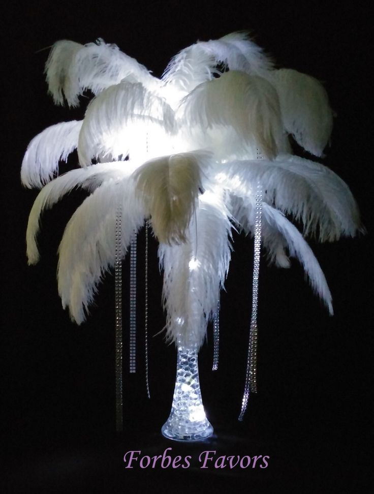 DIY Mystique Ostrich Feather Centerpiece Weddings & Special Events with or without stand by ForbesFavors on Etsy https://www.etsy.com/listing/220432056/diy-mystique-ostrich-feather-centerpiece