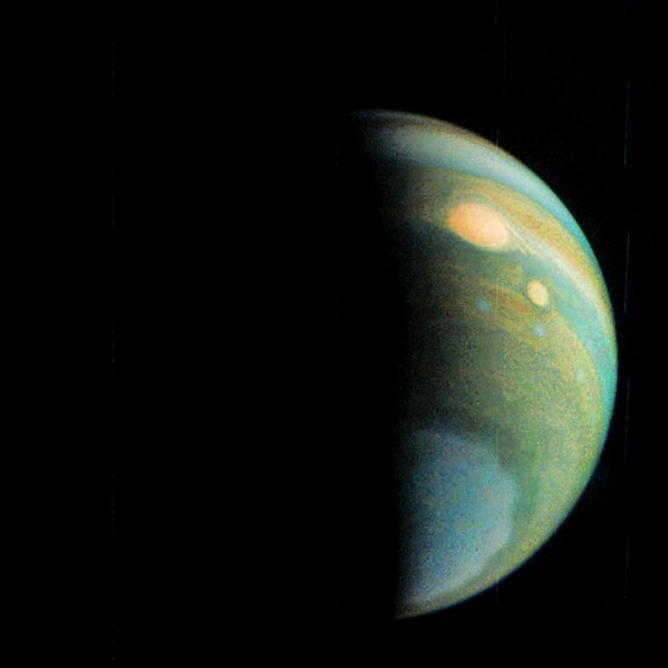 NASA Jupiter Probe Makes 4th Flyby of Giant Planet. This false-color view of Jupiter's polar haze was created by citizen scientist Gerald Eichstädt using data from the JunoCam instrument on NASA's Juno spacecraft. The image was taken on 12/11, 2016, when the spacecraft was 285,000 miles from Jupiter