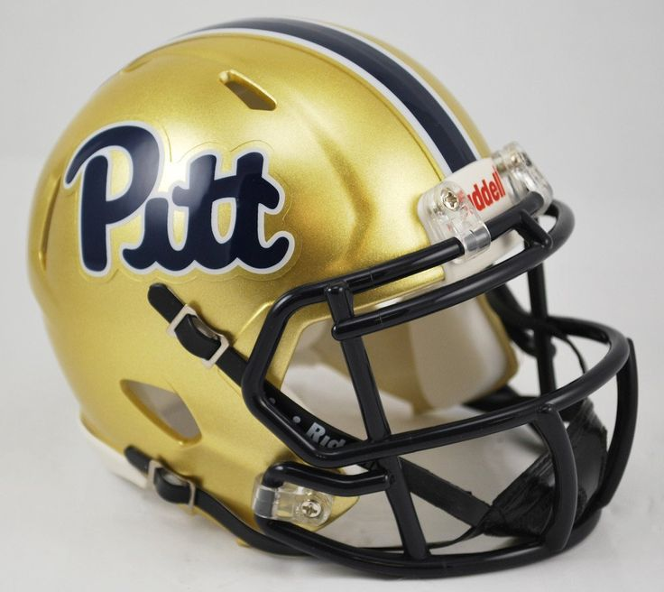 Pittsburgh Panthers Helmet - Riddell Replica Mini - Speed Style - Script