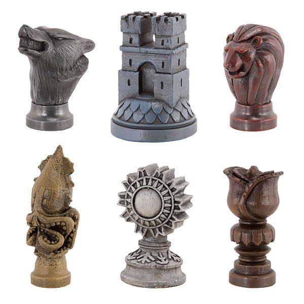 Markers for House Stark, Lannister, Frey, Karstark, Greyjoy, and Tyrell