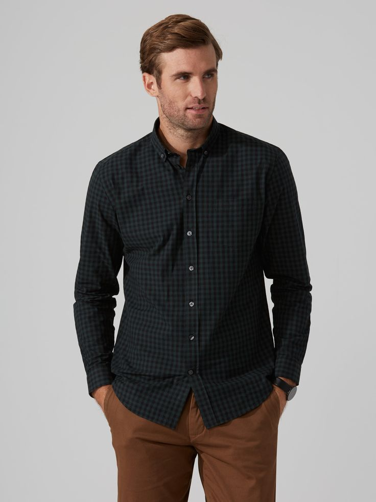 The Branford Gingham-Check Shirt in Pine Grove   Frank And Oak