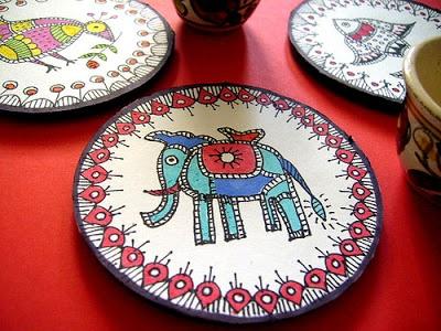 Rang-Decor {Interior Ideas predominantly Indian}: Art & Crafts of India #5: Madhubani Paintings