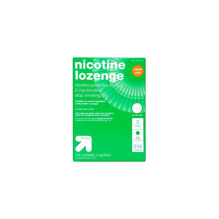 Nicotine 2mg Lozenge Stop Smoking Aid - Mint - (Compare to Nicorette Lozenge) - 216ct - up & up