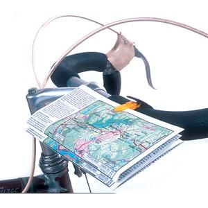 Cue Clips Map & Cue Sheet Holder - Handlebar & Stem Bags | Adventure Cycling Association #packyourpanniers