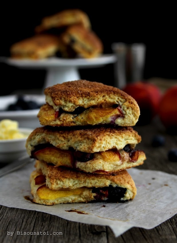 ... Peach Cobbler Scones | bake! | Pinterest | Peach Cobblers, Cobbler and