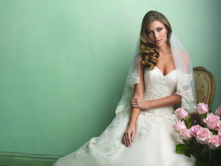 Wedding Dress I Wedding Gown I Veil I Allure Bridals (9153) I Available at Brides of Melbourne