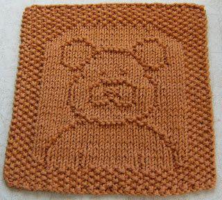 Knitted Teddy Bear Dishcloth Pattern : Free Knitting Pattern - Dishcloths & Washcloths : Ted E ...