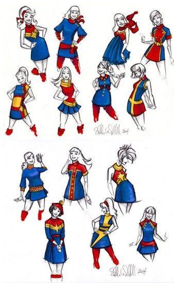 I love this interpretation of Captain Marvel Mod-Style