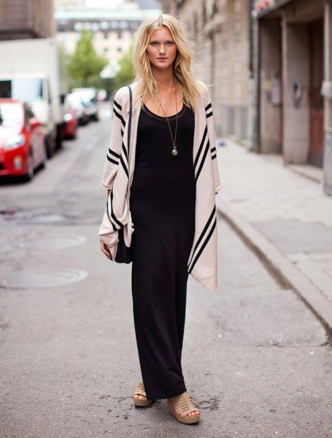 Sweaters to wear with maxi dresses