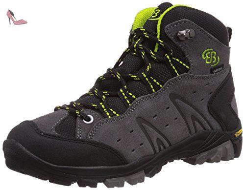 Bruetting 211135, Chaussures de Randonnée Hautes Mixte Adulte, Gris (Grau/Rot), 39 EU