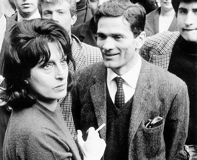 Anna Magnani e Pier Paolo Pasolini