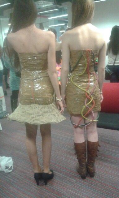 Scotch tape dress