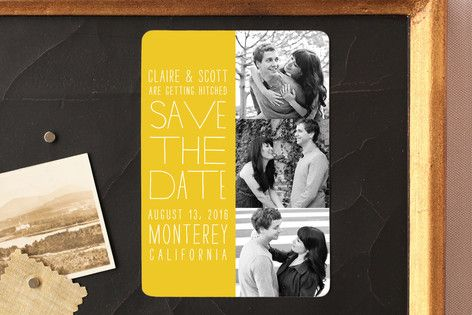 Film Strip Save the Date Magnets by annie clark at minted.com