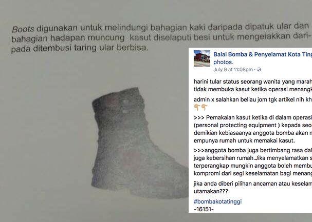 Bomba Perjelas Sebab Tak Pecat Kasut Ketika Tangkap Ular Dalam Rumah Selepas Dimarahi di Facebook http://ift.tt/2uaYIZN
