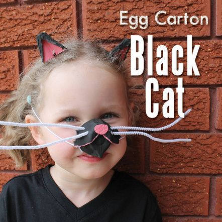 Egg Carton Black Cat Costume - The Craft Train