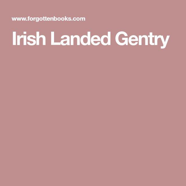 Irish Landed Gentry