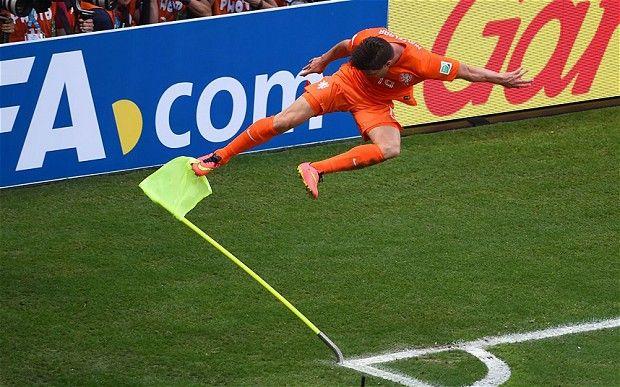 Klaas-Jan Huntelaar puts Netherlands into last eight after Arjen Robben wins late penalty.