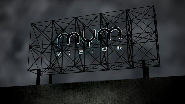 MyM.vision sigla Insegna Neon
