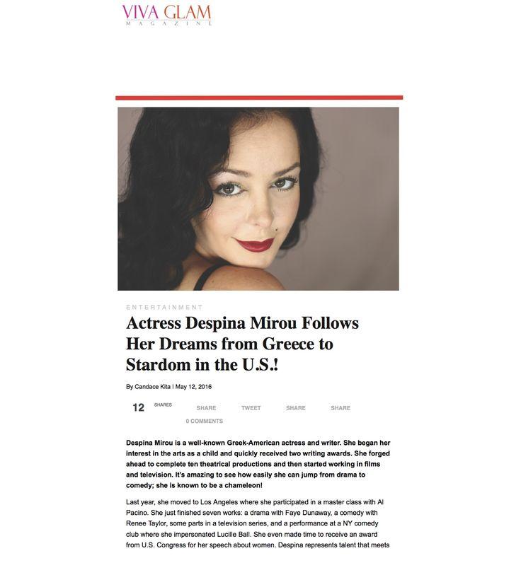 My interview at VIVA GLAM magazine ,May '16!