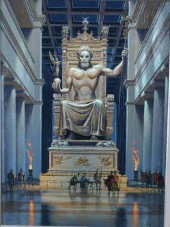 Estatua de Zeus en Olimpia (Grecia).                              …