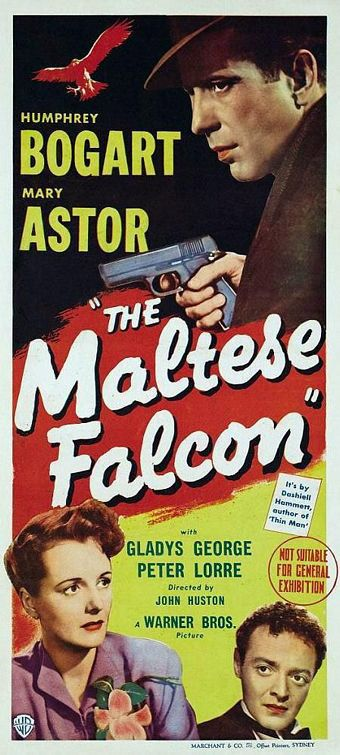 The Maltese Falcon (1941)  Humphrey Bogart  Movie Posters https://www.youtube.com/user/PopcornCinemaShow