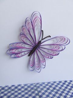 Week Seven: Quilled Butterfly (Husking Technique)  #butterfly #quilling #huskingtutorial #huskingtechnique #purple #artblog