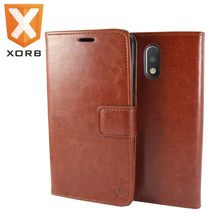 XORB™ Motorola Moto G4 Flip Cover Leather Wallet Premium Back Case for Moto G4