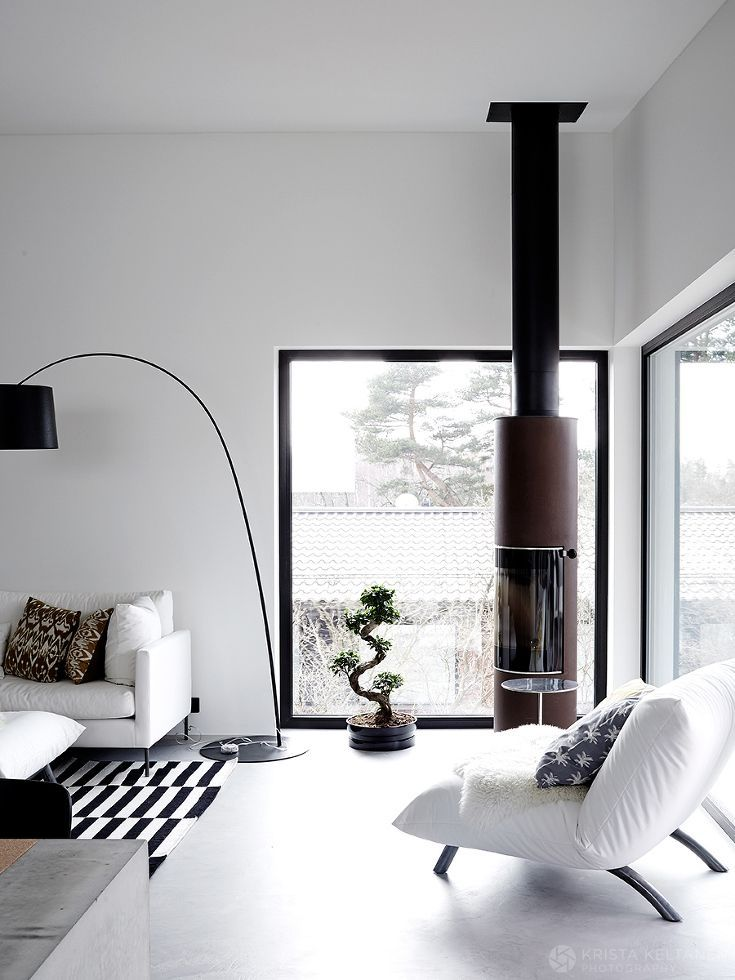 Black And White Foscarinis Twiggy Floor Lamp In Basic