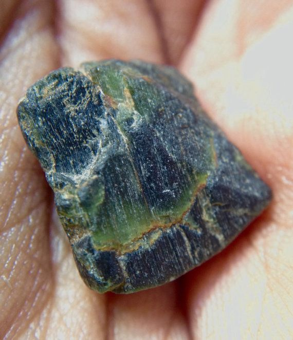 Green and Brown Enstatite Rough From India. by SolsticeStore