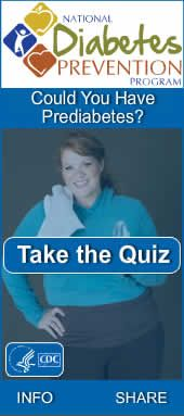 CDC National Diabetes Prevention Program.  Are you at risk?