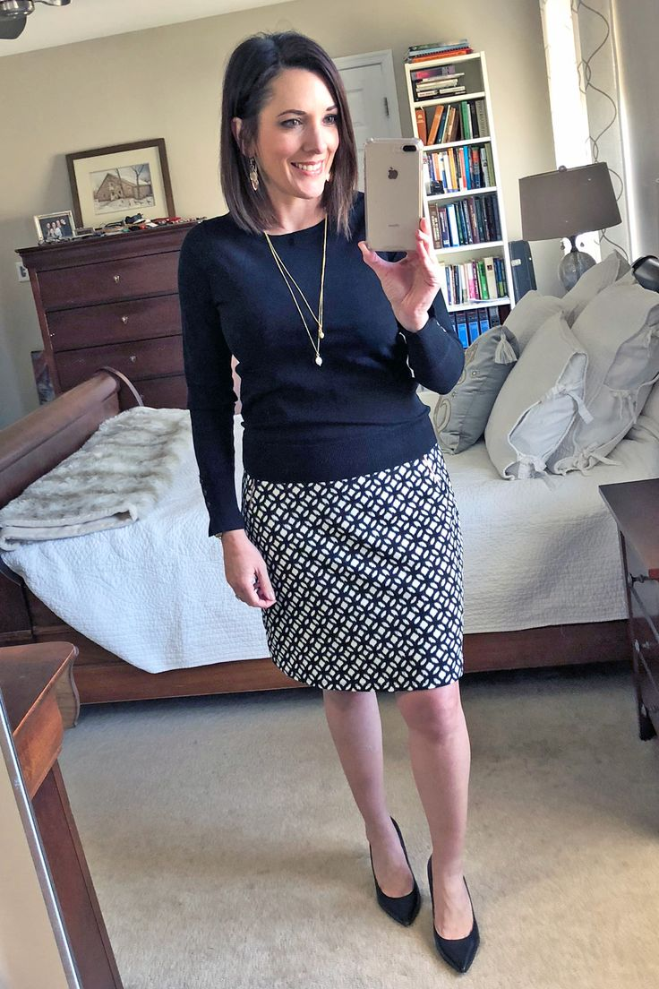 February 2018 Stitch Fix Review | Stitch Fix LE LIS Maura Zip Pocket Detail Skirt | Stitch Fix Winter Outfit | Fashion for Women Over 40 | Jo-Lynne Shane #fashion #outfit #stitchfixinfluencer