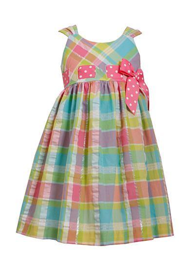 Bonnie Jean® Pull-Through Seersucker Dress Girls 4-6x