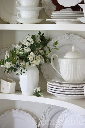 White dishes are an awesome way to set a nice place setting for any occasion.