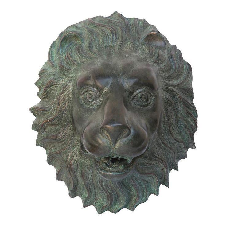 Florentine Lion Head Bronze Plaque