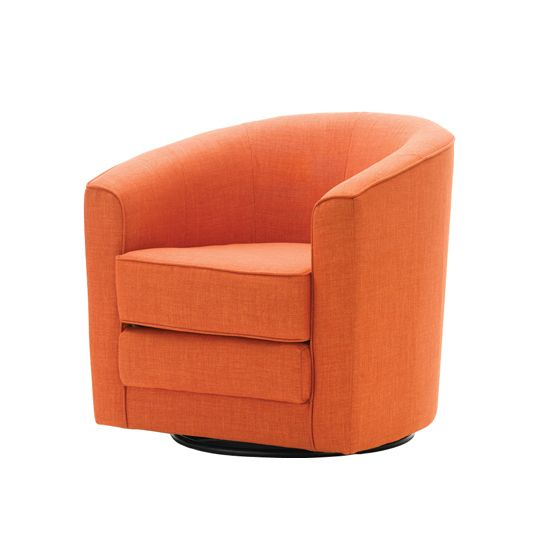 Living Room Swivel Chairs Other Color Options But Orange Is Fun 349 Ea