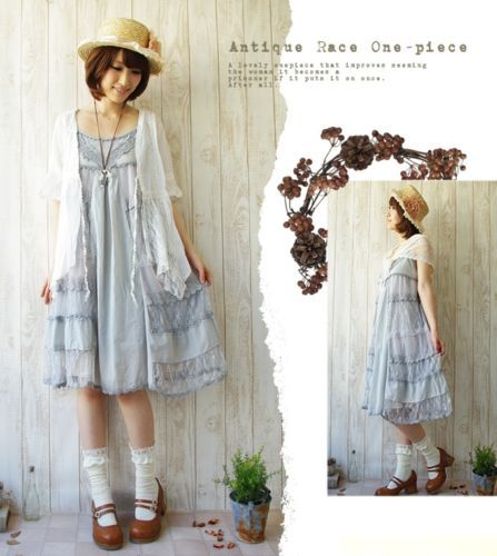 Japanese-women-Vintage-Lolita-Lace-sleeveless-Sweet-Dress-Mori-Girl-Summer-G-9A