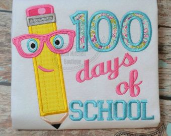 100 days of school Applique Shirt Back to by SouthernPrepBoutique