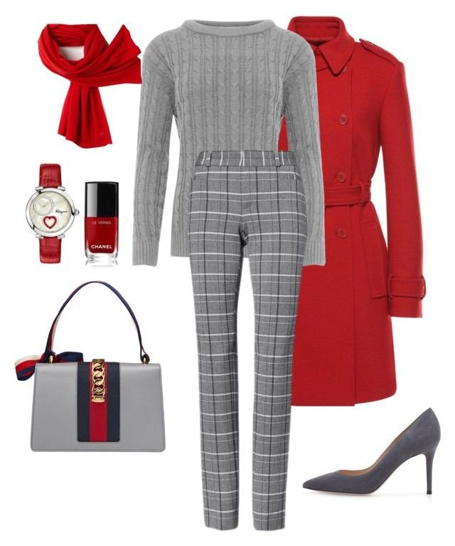 """""""Untitled# 204"""" by bidlekerika on Polyvore featuring RED Valentino, WearAll, Gucci, Salvatore Ferragamo, Chanel and Lacoste"""