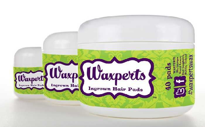 Waxperts Pads ... multi-tasking wonder product for Ingrown Hair, Blackheads, Blemishes, Bear rasg and Bumpy Upper Arms.  Tough enough to achieve results,  yet gentle enough for daily use ...  for both Male & Female.   	Makes ingrown hairs a thing of the past! 	Simple to use D.I.Y product. 	The daily solution to prevent and treat ingrown hairs. 	Contains Salicylic Acid, Rosemary and Panthenol to combat unslightly lumps and bumps.