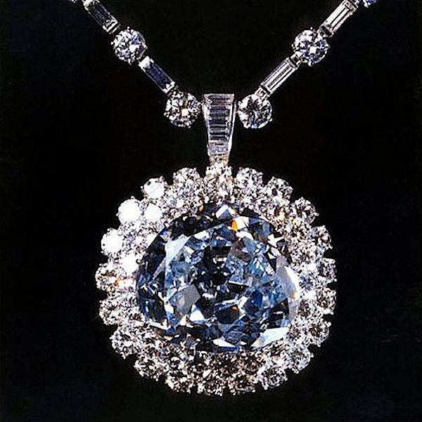 The Hope Diamond once worn by Marie - Antoinette of France