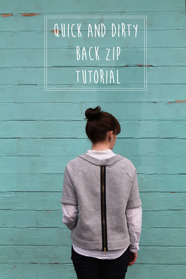 Katy's Quick and Dirty Back Zip Tutorial