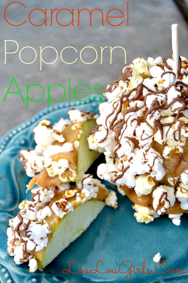 Caramel Popcorn Apples are a fun dessert to make for any party or family night. They're sweet, chewy, salty and sour. You will love this delicious treat!