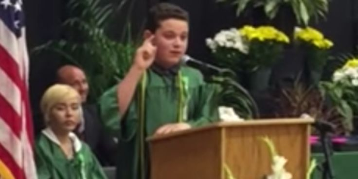 8th Grader Spoofs Presidential Candidates In Hilarious Graduation Speech