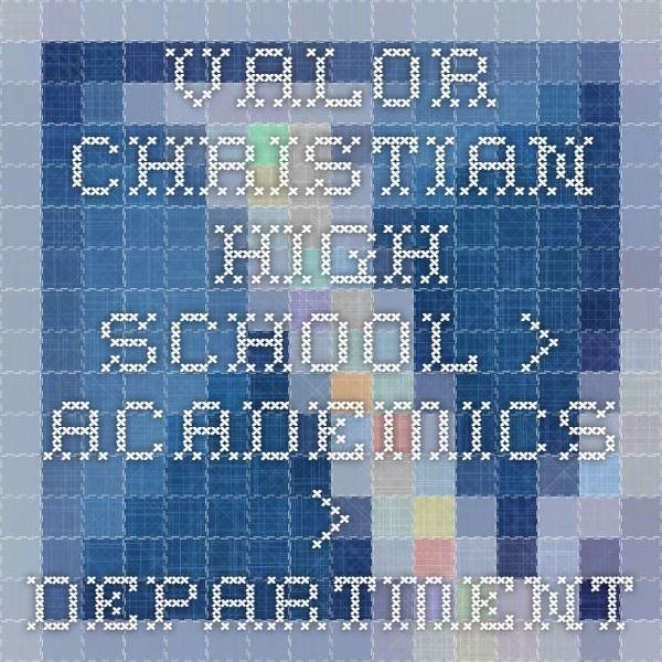 Valor Christian High School > Academics > Department