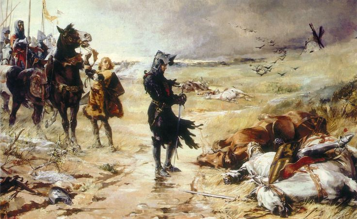 The Black Prince at the Battle of Crecy, by Julian Story