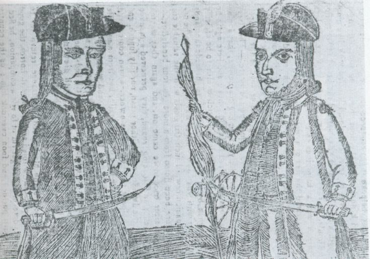 Daniel Shays and Job Shattuck, principals in Shays' Rebellion | Hampshire County, Massachusetts