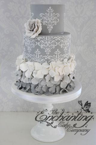 light pink and gray wedding cakes 480 best images about ruffle cakes on white 16871