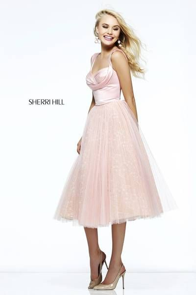 The front of the dress so prettyyy sherri hill