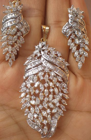 Get best prices of BOLLYWOOD INDIAN SIMULATED GOLD SILVER TONE CZ DIAMOND STONE PENDANT SET on Shopclues.com