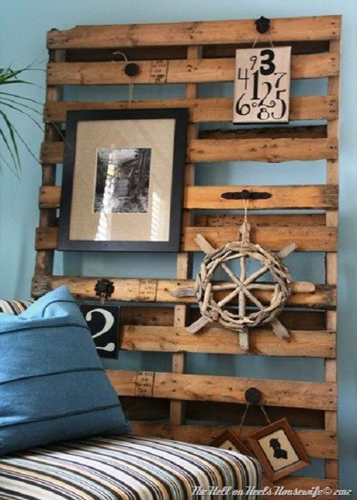 Tablero con pallets -  Decoracion de INTERIORES